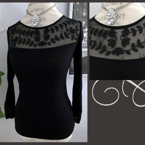 Floral Neckline and Sleeve H&M Blouse